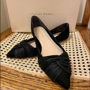 Loeffler Randall Black Flats, New with box!